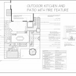 outdoor kitchen, patio and fire-feature-plan