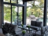 Screened porch with stone patio