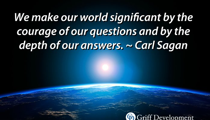 Courage to Ask AND Answer Questions