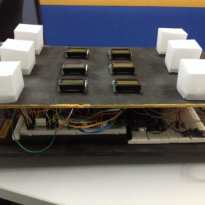 Panel containing complex system design used in brain operated wheelchair developed by CRAE TECH.
