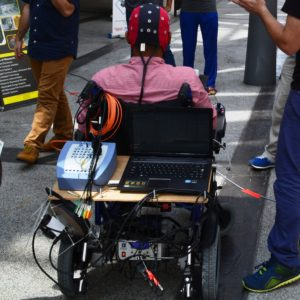 Brain operated wheelchair project developed by CRAE TECH in Action.