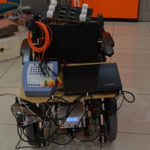 Brain operated wheelchair project developed by CRAE TECH.