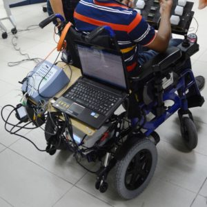 Computer used for advance brain signal processing in brain operated wheelchair project developed by CRAE TECH.