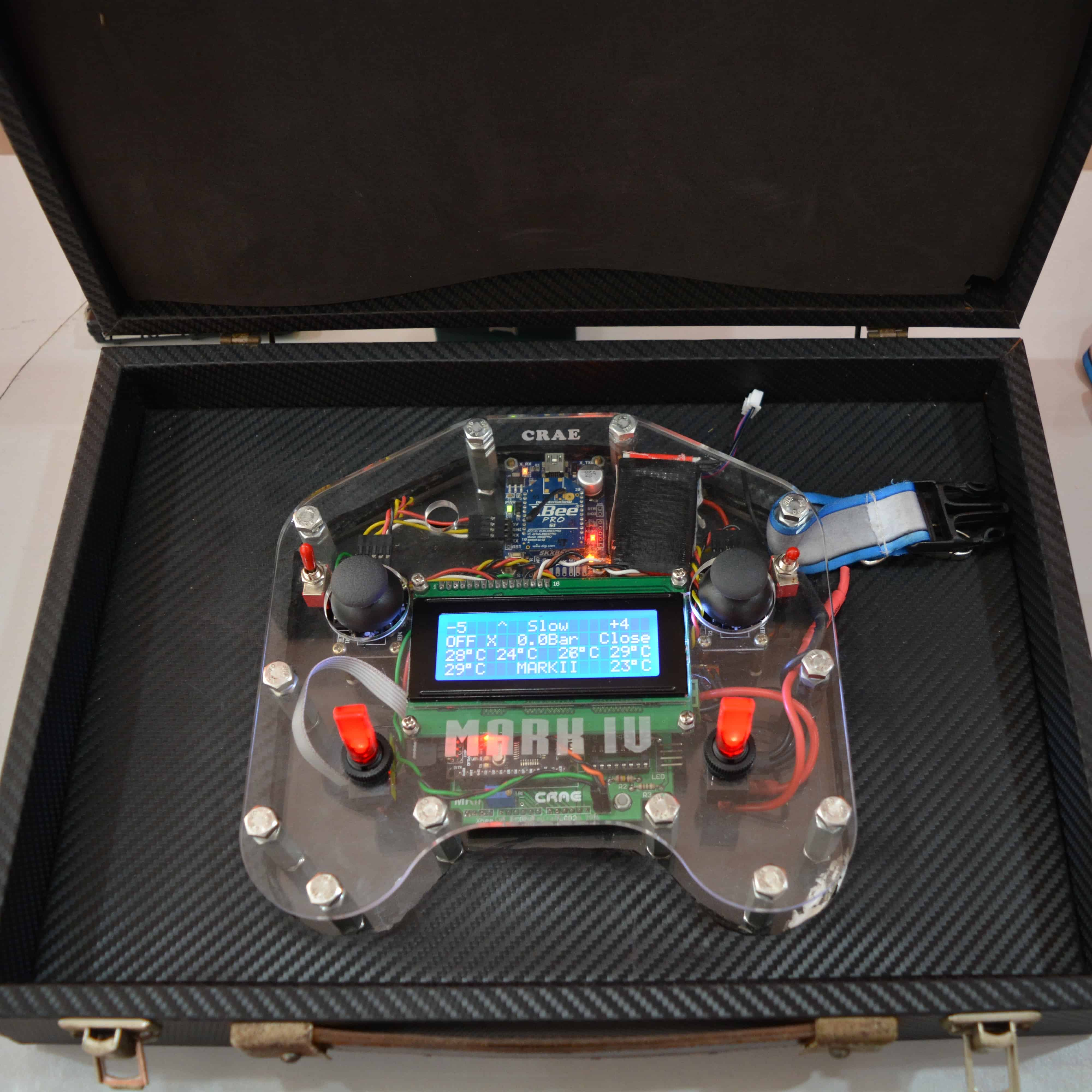 Customized remote control project developed by CRAE TECH Inside its Box.