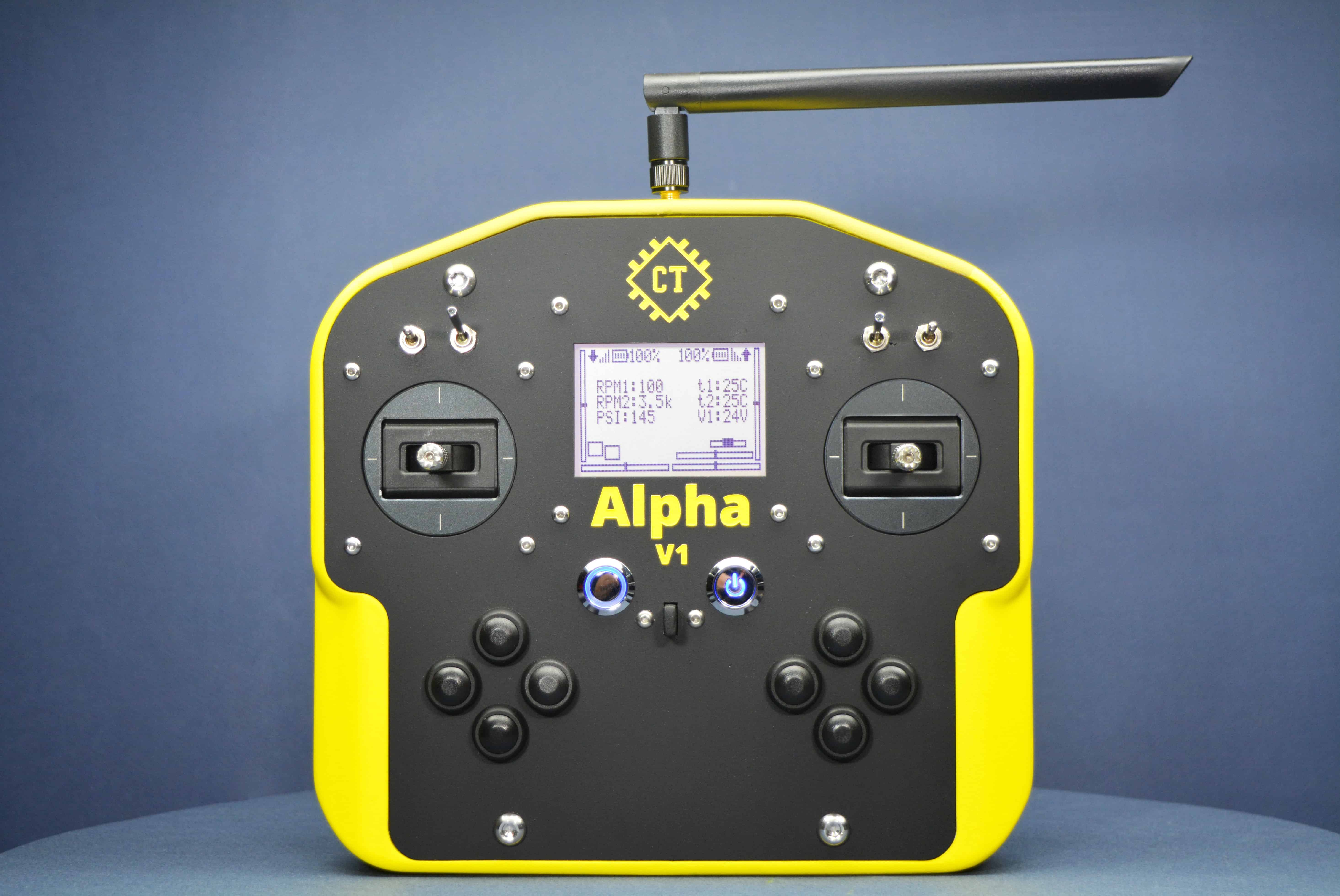 Alpha V1 Open Source and Arduino Compatible Remote Controller (Transmitter) Front View