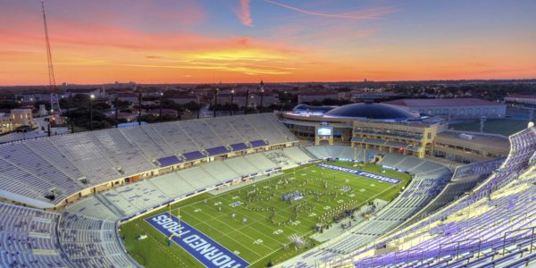 TCU Horned Frogs Football Stadium at Sunset