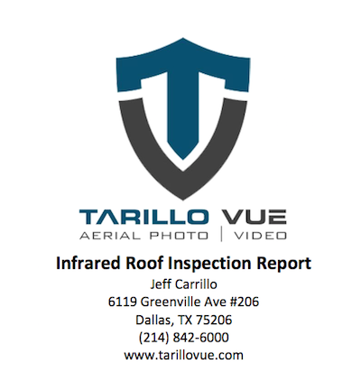 insurance documentation report for thermal roof inspection dallas