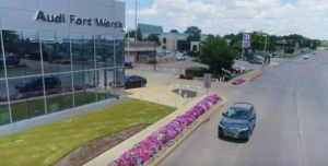 using drones for car commercials for ad agency in dallas texas