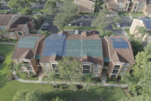 roof of condo aerial inspection