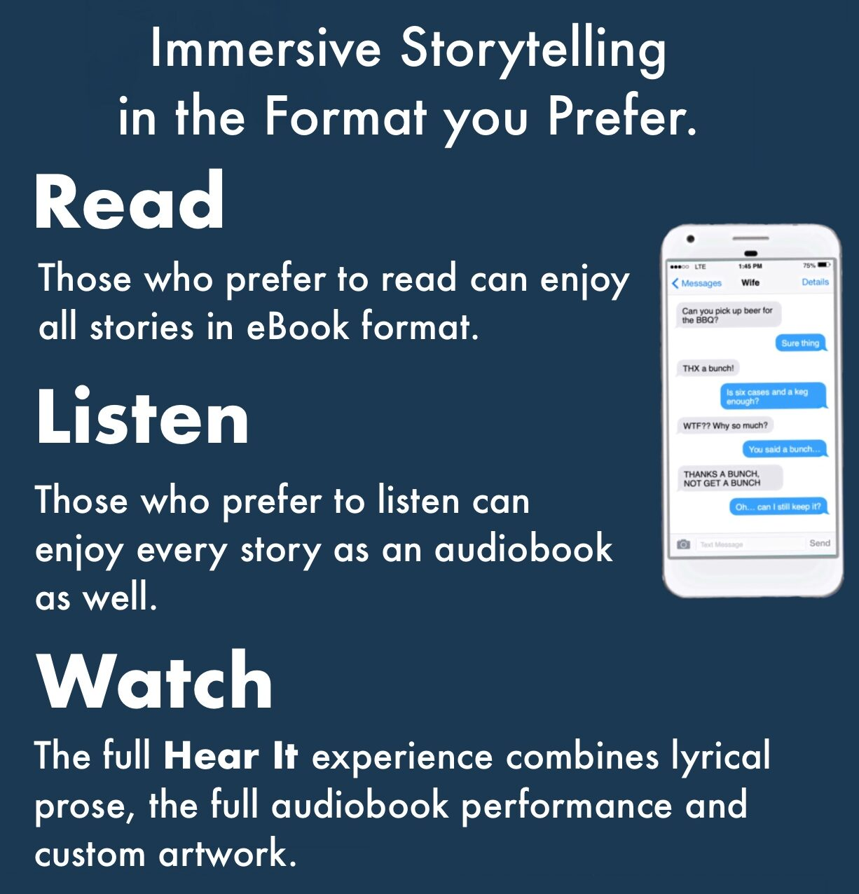 Hear It Stories are in the Format you Prefer