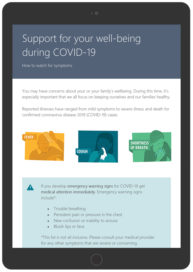 Free COVID19 Email Template