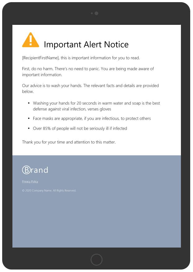 Important Alert Notice