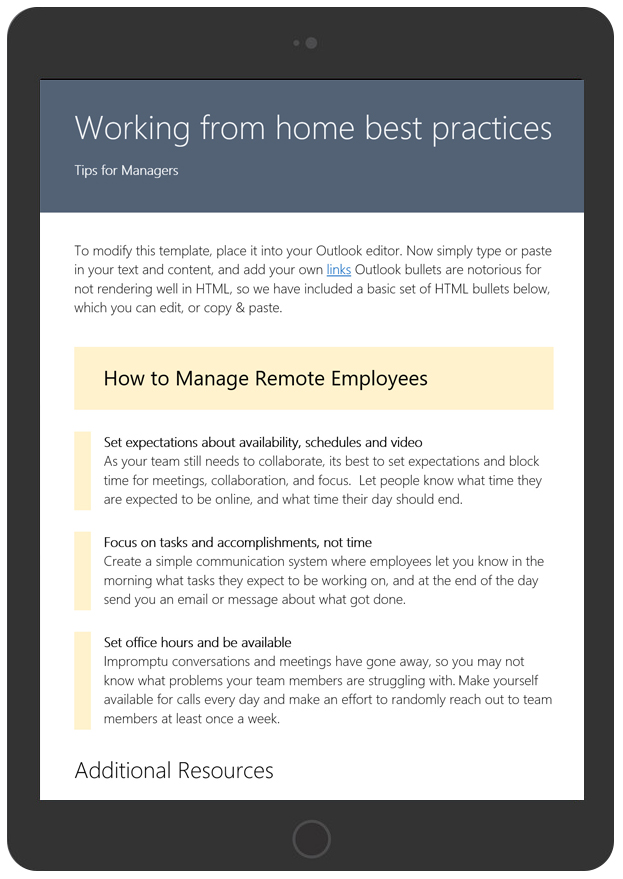 Working From Home Tips For Managers
