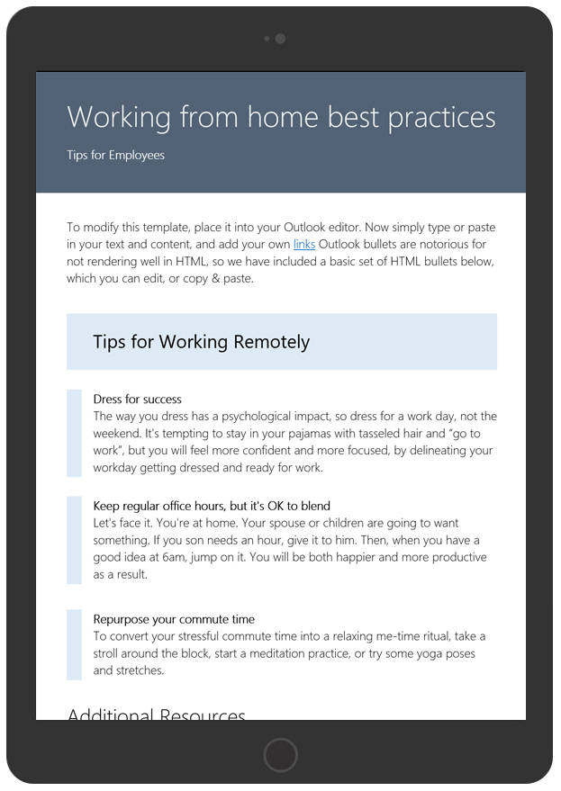 Working From Home Tips For Employees