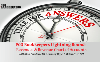 PCO Lightning Round FAQs: Revenue & Chart of Accounts