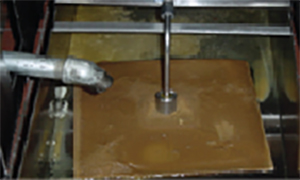 filtering oil step five