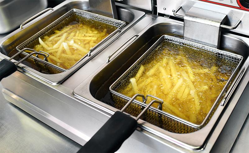 Frying oil vat cooking fries
