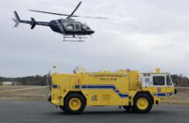 MedFlight on approach during a training exercise at Chesterfield County Airport.
