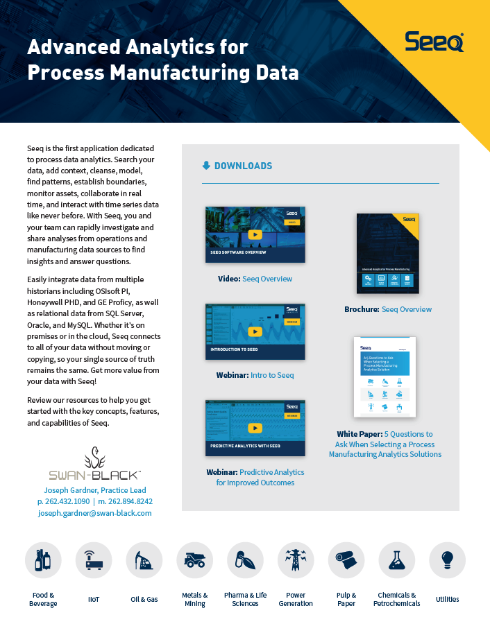 Advanced Analytics for Process Manufacturing Data