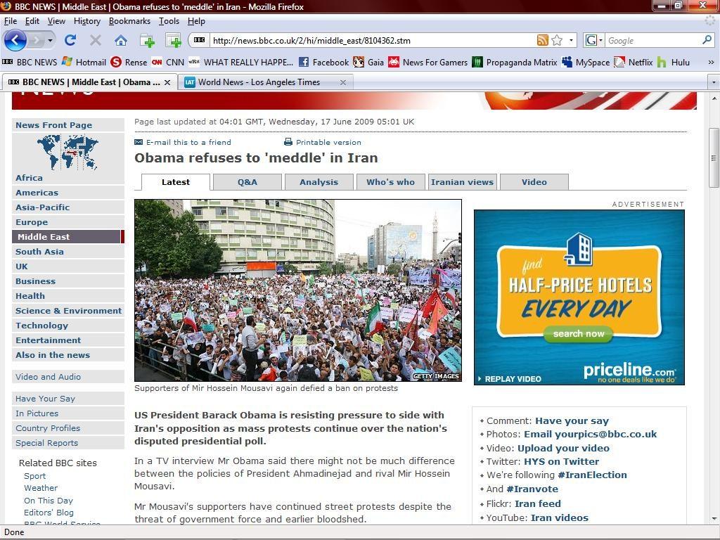 BBC crops image fake news