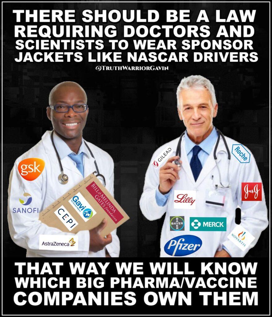 law requiring doctors wear sponsors like nascar drivers