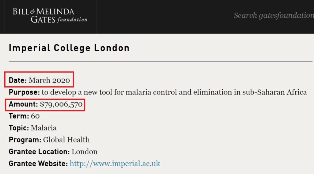 gates foundation grant imperial college london