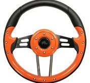 We stock and sell custom and standard steering wheels
