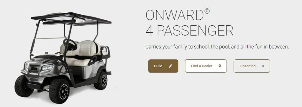 Onward 4 passenger golf carts