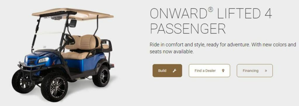 Onward lifted golf carts