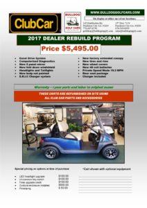 Bulldog golf cars sell 2017 dealer rebuild golf carts at an affordable price