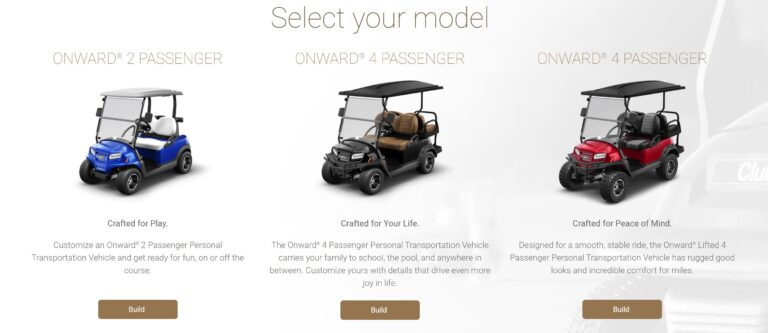 Build your golf cart online