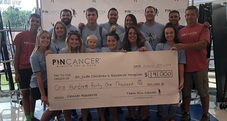 pin cancer donation about