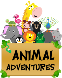 Logo for Books 4 Fun Theme - Animal Adventures.