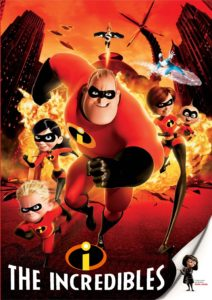 DVD Cover for the Incredibles.