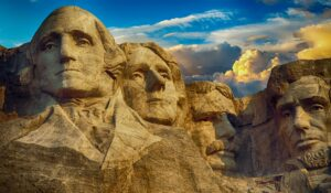 Photo of Mount Rushmore.