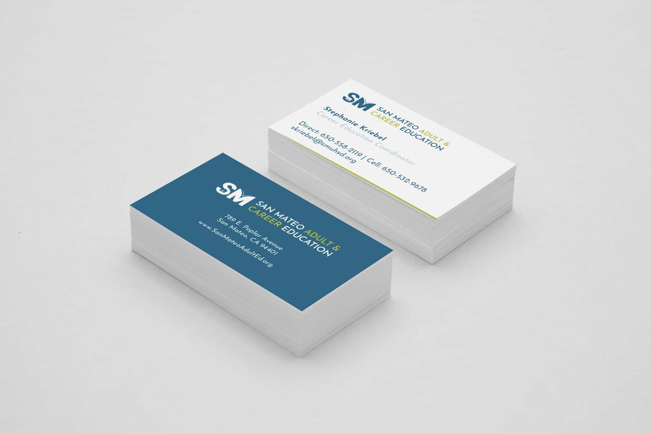 San Mateo Adult & Career Education Business Card