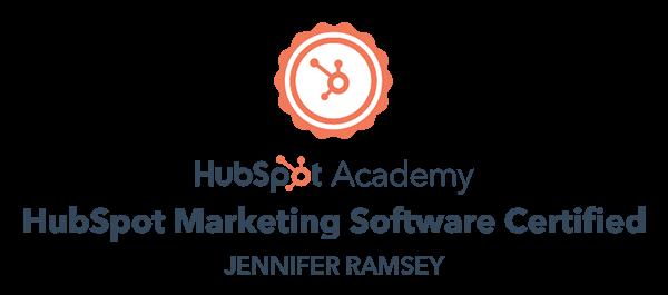 HubSpot Marketing Software Certified