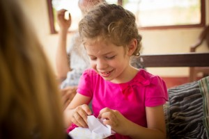 "Flower-girl loved ""directing"" the resurrection egg activity...and finding surprises in hers!"