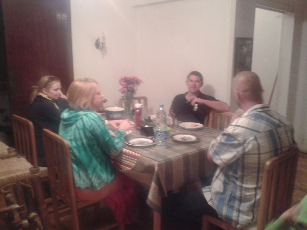 27-family dinner and the ability to host in our new home