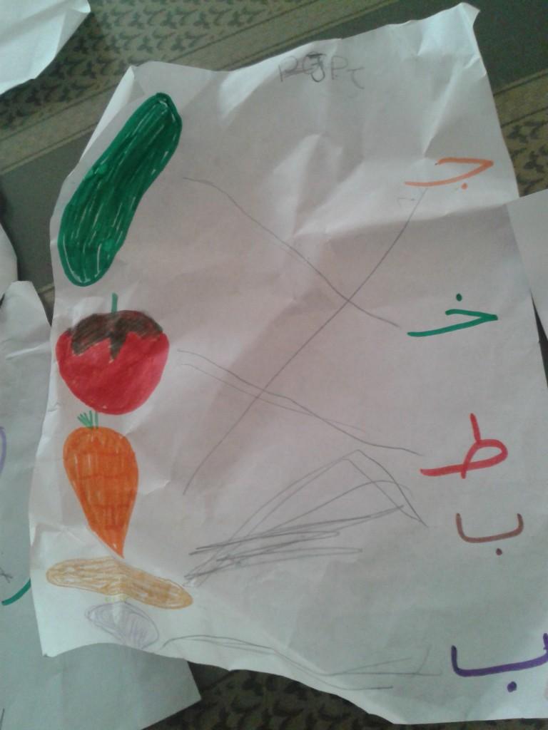 04-My kids reading Arabic script! So grateful for their school.