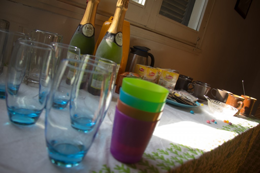 We had guests over so Jon found sparkling Cider for a special drink. So fun!