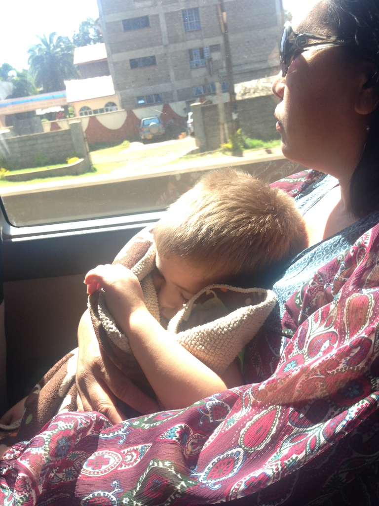 """Snuggles with """"aunties"""" and not just mom is another benefit. This was the first time Daniel chose another adult over mommy...and even fell asleep. So sweet..."""