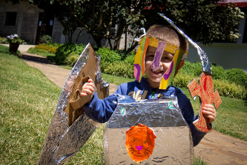 """Learning about the """"armor of God"""" in kids camp..."""