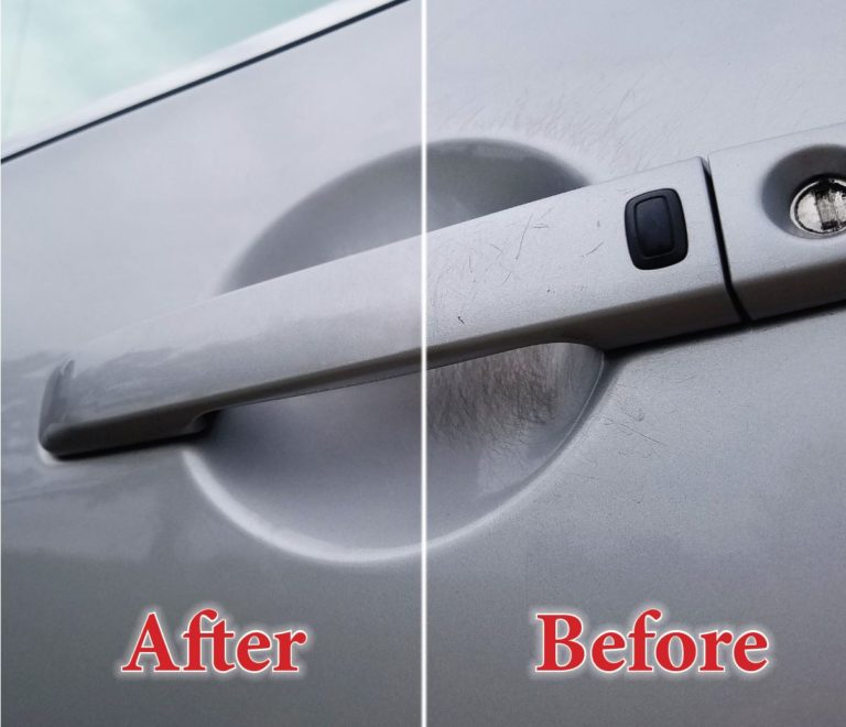 Scratch removal before and after