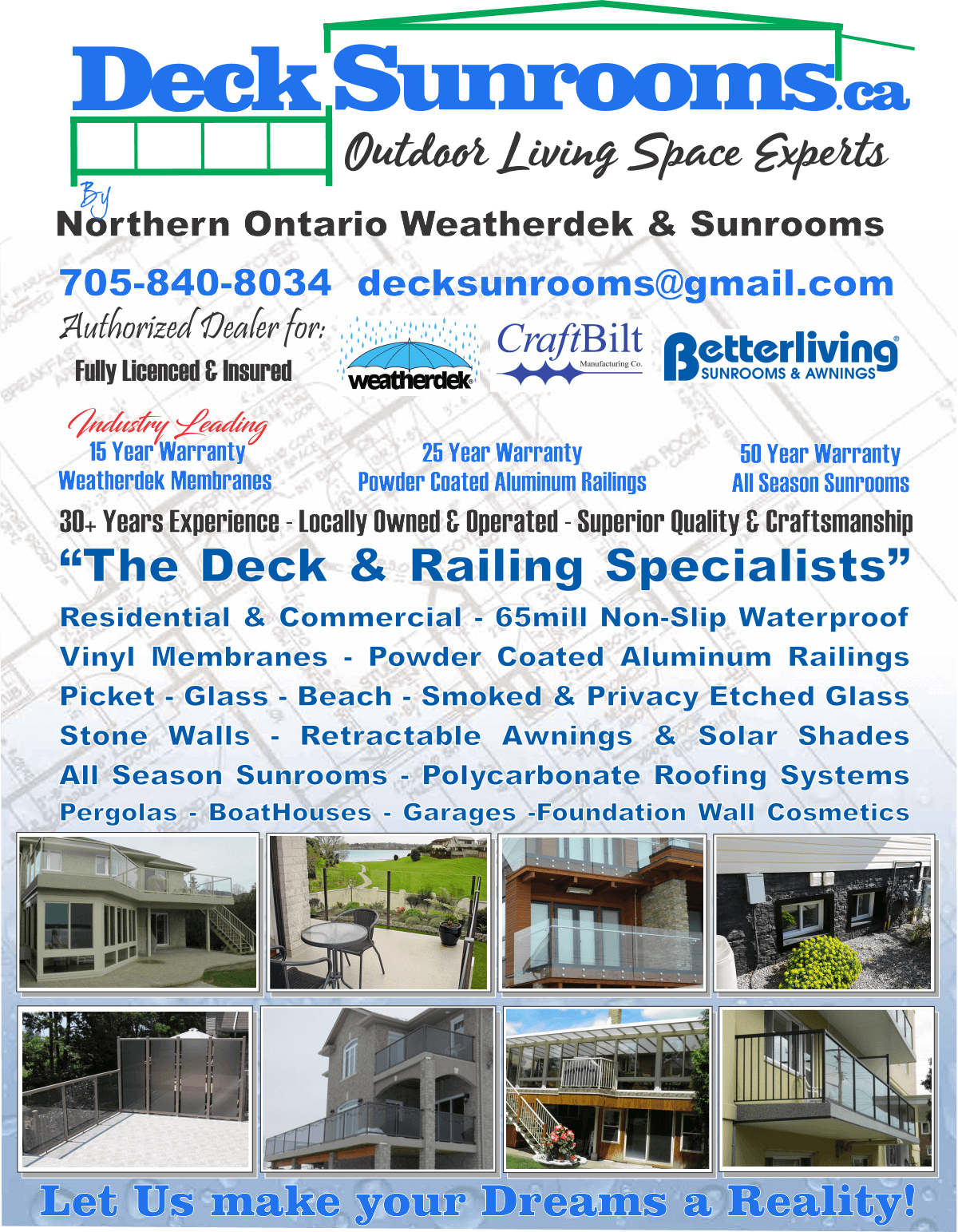 Print Design, Print Collateral by Effective Marketing, www..decksunrooms.ca flyer.