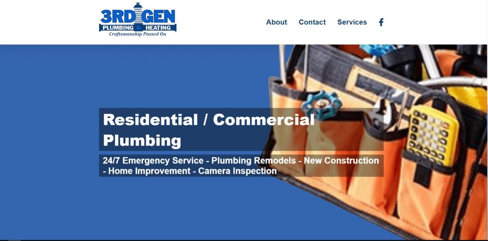 3RDGEN Plumbing and Heating Website Design