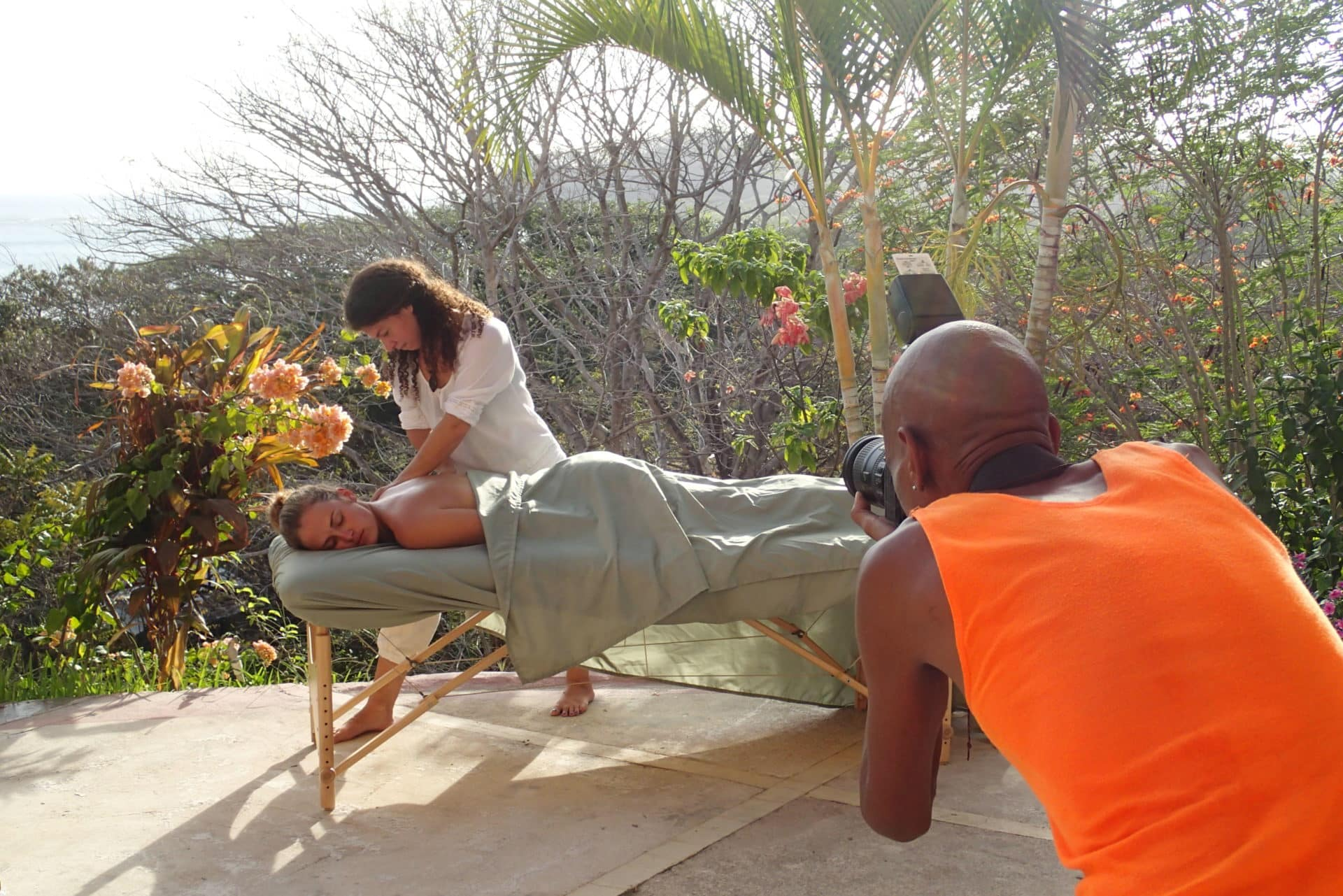 Massage Photo Shoot in Paradise