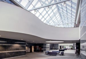 Interior of Friday Center Atrium