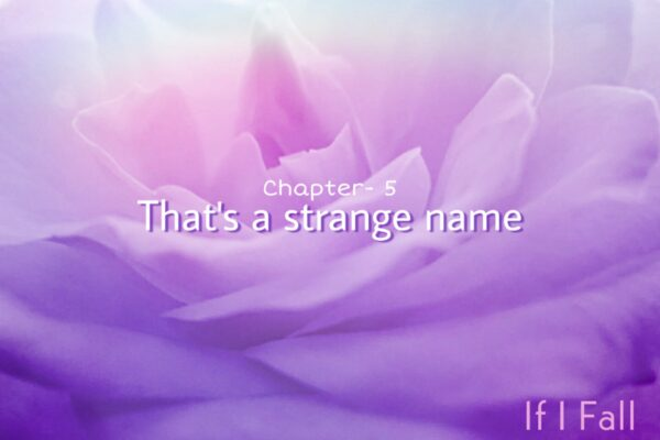 A short fiction, Chapter-5 that's a strange name, by the caffables a short story blog.
