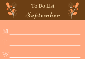 To-do list September by the Caffables